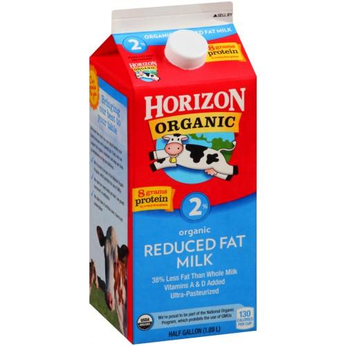Horizon Organic 2% Reduced Fat Organic Milk 64 Fl Oz Carton